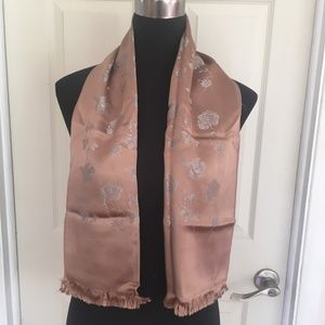 Men's Brown and Silver Reversible Opera Scarf
